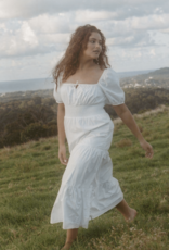 Faithfull Rene Midi Dress - White