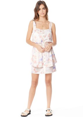 Saltwater Luxe Violet Satin Mini Dress
