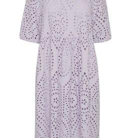 ICHI Fionn Midi Eyelet Dress