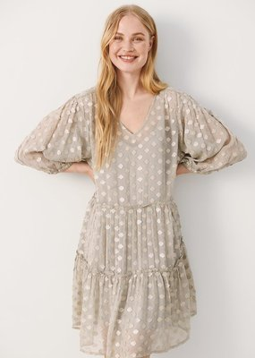 Part Two Hawra Shimmery Dotted Dress