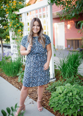 B.Young Joella Dress in Blue Floral