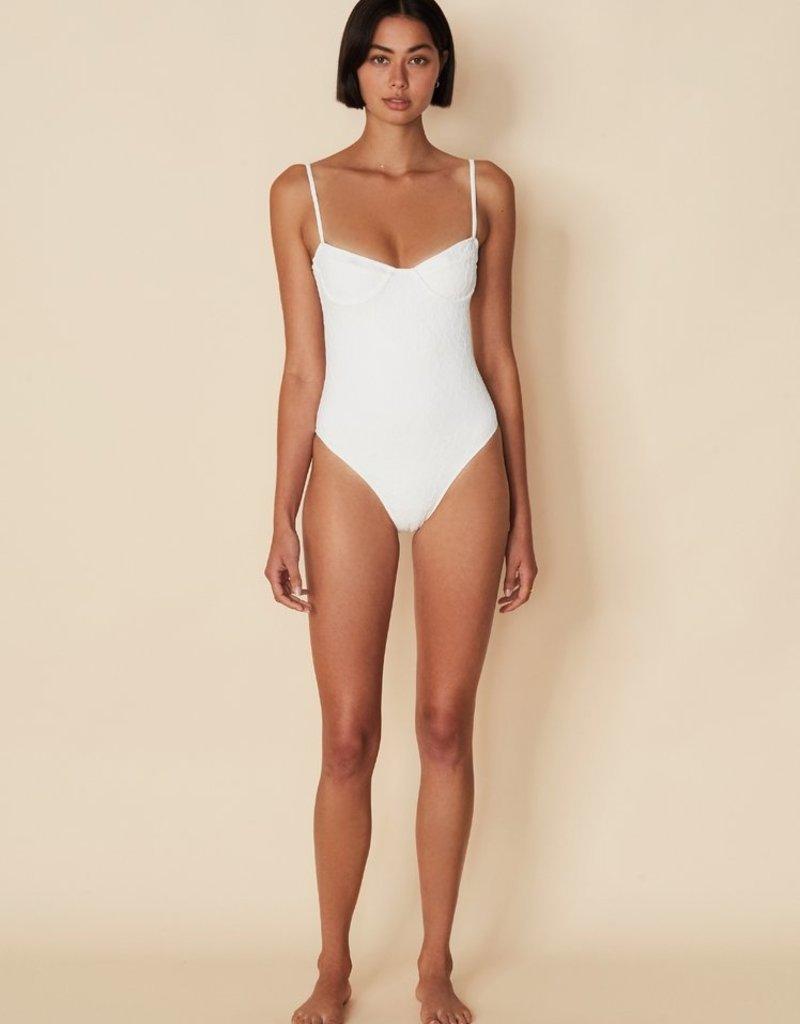 Faithfull Bea One Piece Swimsuit - White