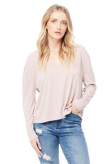 Saltwater Luxe Nina Long Sleeve Top - Petal Pink