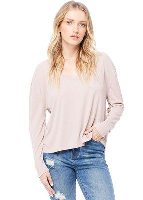 Saltwater Luxe Nina Long Sleeve Top in Petal Pink