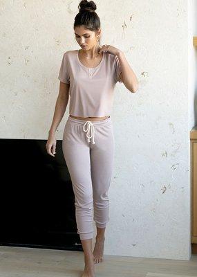 Saltwater Luxe Nina Jogger Pant in Petal Pink