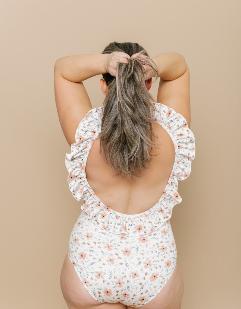 Imagine Perry Ruffled One Piece - Floral