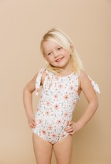 Imagine Perry Girls Shoulder Tie One Piece - Floral