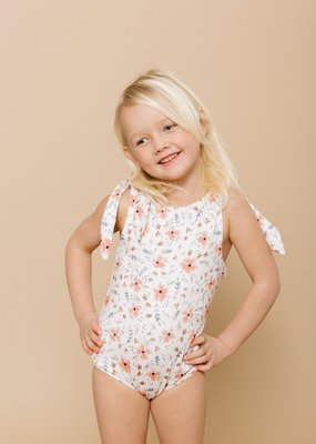 Imagine Perry Imagine Perry - Girls Shoulder Tie One Piece in Floral