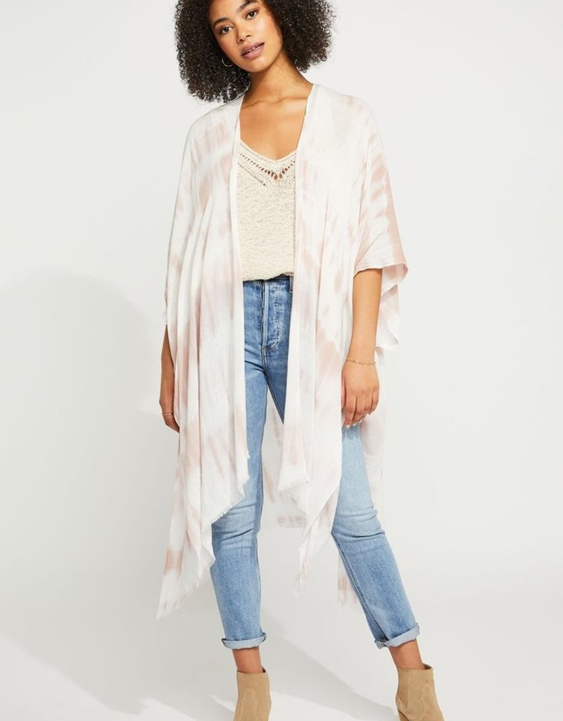 Gentle Fawn Mosaic Cover-Up - Rose Tie Dye