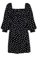 Faithfull Scarlet Mini Dress in Neoma Dot Print