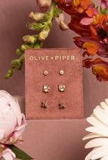 Olive & Piper Petite Stud Set - Russet