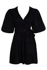 Faithfull Rooney Wrap Mini Dress - Black