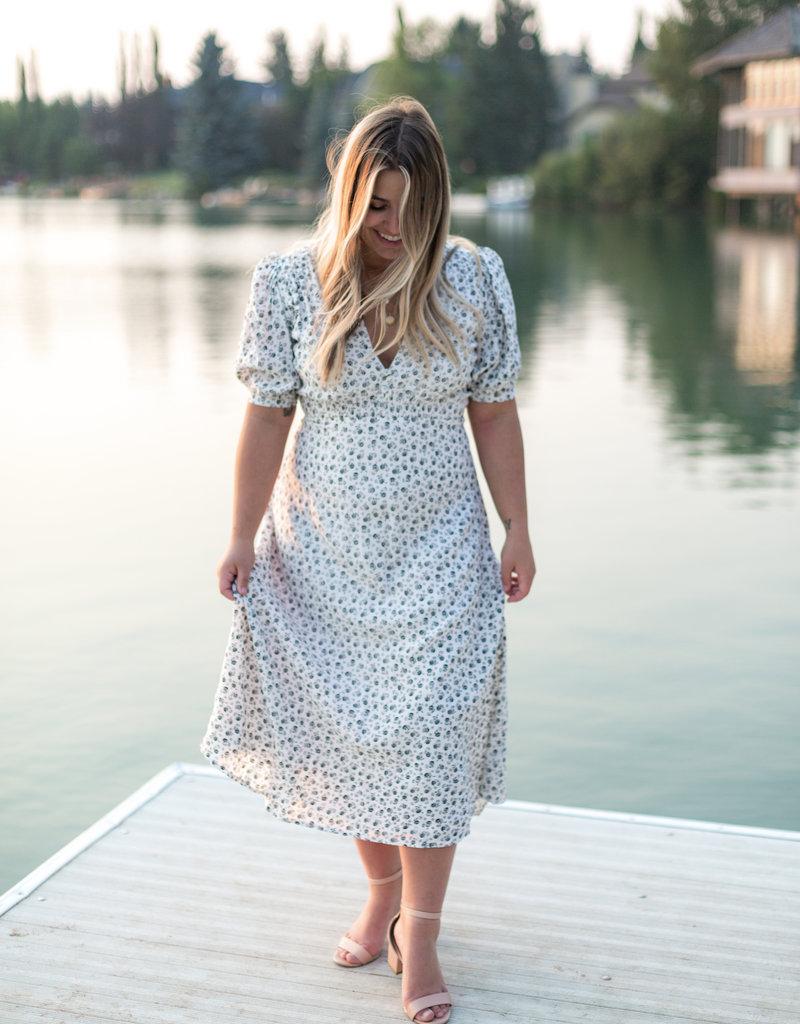 Faithfull Sonja Midi Dress - La Bleu Floral Print