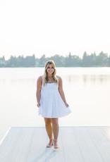 Faithfull Octavia Mini Dress in White