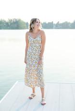 Saltwater Luxe Sharice Tank Midi Dress - Wildflower Print