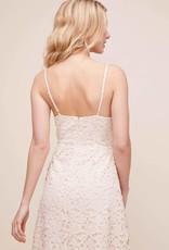 ASTR Kenna Lace Midi Dress in Buttercream