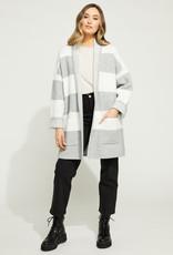 Gentle Fawn Mallory Cardi Coat in Grey Stripe