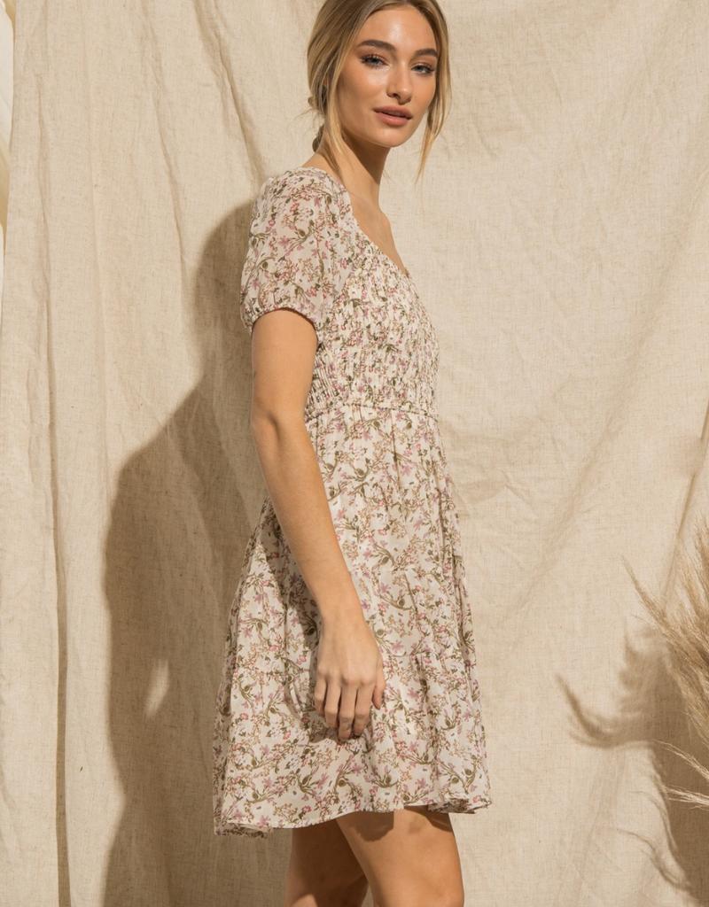 Baevely Casandra Smocked Floral Dress