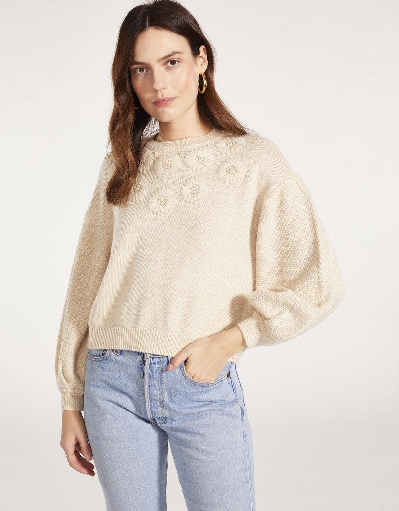 BB Dakota Daisy Sweater in Oat
