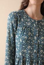 Indi and Cold Bobbie Blue Floral Dress