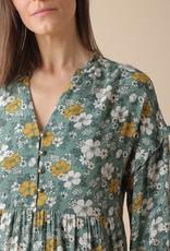 Indi and Cold Jana Green Floral Print Dress