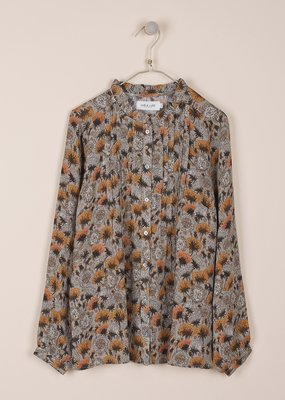 Indi and Cold Dandelion Printed Floral Blouse