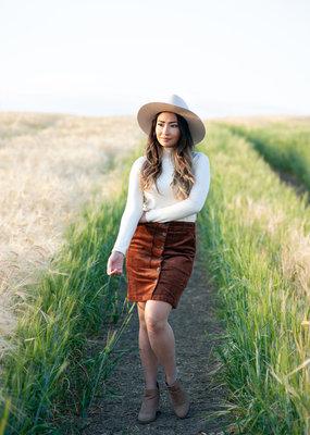 Part Two Tess Corduroy Skirt