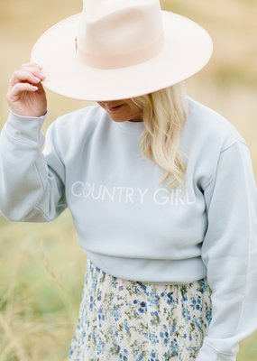 Brunette the Label Brunette the Label - Country Girl Crew in Summer Sky