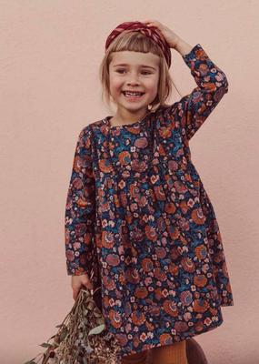 Louise Misha Girls Roulotta Dress in Charcoal Bohemian Flowers