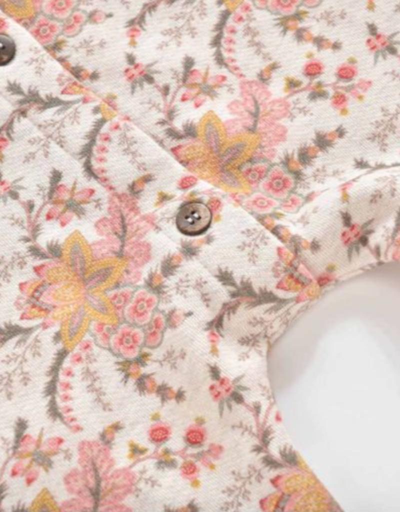 Louise Misha Girls Helene Jumpsuit in Cream French Flowers