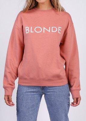Brunette the Label Brunette the Label - Blonde Crew in Rose Blush