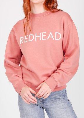 Brunette the Label Brunette the Label - Redhead Crew in Rose Blush