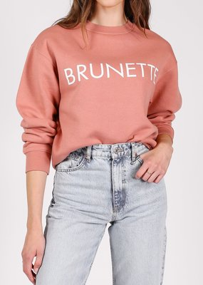Brunette the Label Brunette the Label - Brunette Crew in Rose Blush