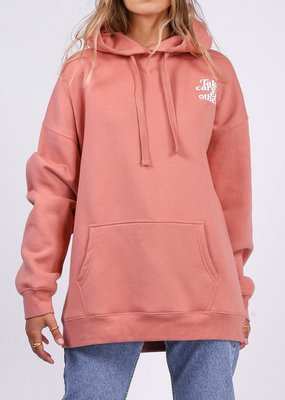 Brunette the Label Brunette the Label - Take Care of Each Other Big Sister Hoodie in Rose Blush