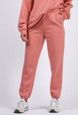 Brunette the Label Best Friend High-Rise Fleece Joggers in Rose Blush