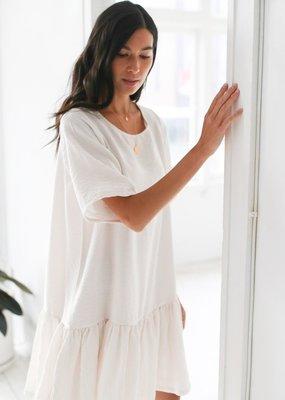 Emma Knudsen The Original Lauren Dress in Off-White Blush