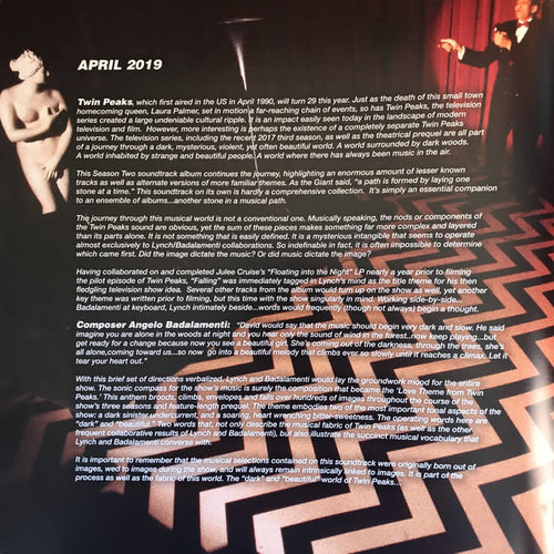 Angelo Badalamenti And David Lynch - Twin Peaks: Season Two Music And More  [NEW]