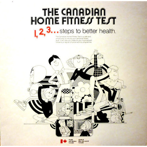 No Artist - The Canadian Home Fitness Test. 1,2,3... Steps To Better Health. [USED]