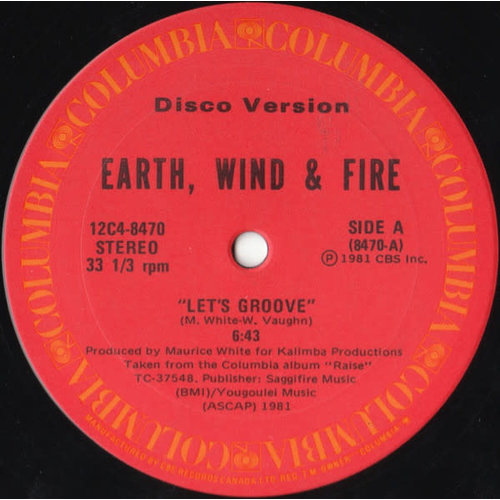 Earth, Wind & Fire - Let's Groove / Fantasy (Disco Version) [USED]
