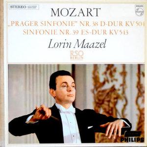"Wolfgang Amadeus Mozart, Lorin Maazel, Radio-Symphonie-Orchester Berlin - ""Prager"" Symphonie Nr 38 D-Dur KV 504 / Symphonie Nr 39 Es-Dur KV 543 [USED]"