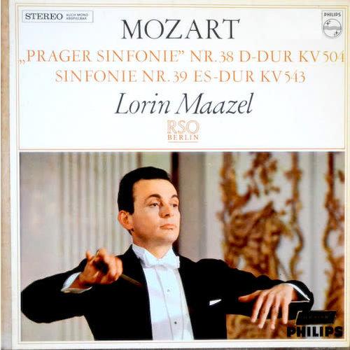 "Wolfgang Amadeus Mozart, Lorin Maazel, Radio-Symphonie-Orchester Berlin - ""Prager"" Symphonie Nr 38 D-Dur KV 504 / Symphonie Nr 39 Es-Dur KV 543 [USAGÉ]"