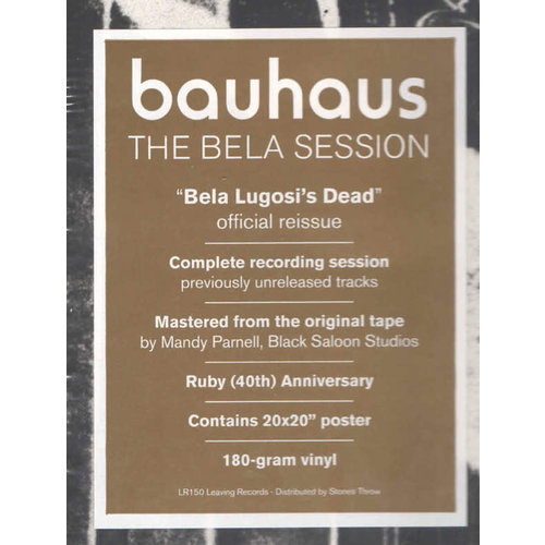 """Bauhaus - Bela Lugosi's Dead - The Bela Session (Includes 20"""" x 20"""" poster) [NEW]"""