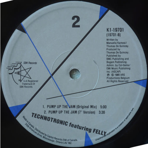 Technotronic - Pump Up The Jam [USED]