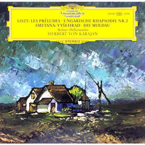 Franz Liszt / Bedřich Smetana - Berliner Philharmoniker, Herbert von Karajan - Les Préludes · Ungarische Rhapsodie Nr. 2 / Vyšehrad · Die Moldau [USED]