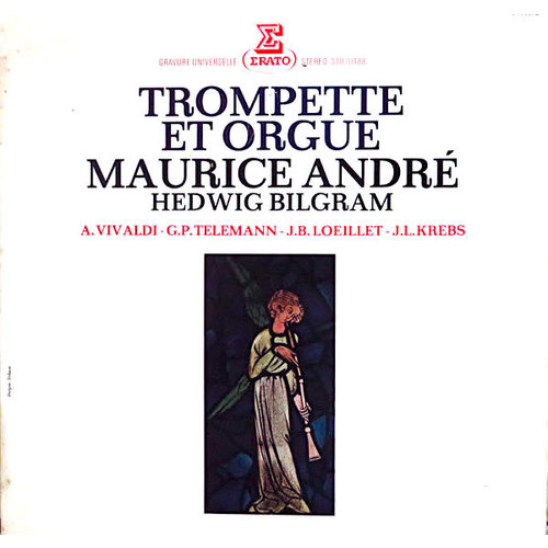Maurice André & Hedwig Bilgram - Antonio Vivaldi / Georg Philipp Telemann / Jean-Baptiste Loeillet / Johann Ludwig Krebs - Trompette Et Orgue [USED]