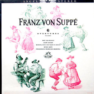 Franz von Suppé, The Philharmonic Promenade Orchestra Of London, Henry Krips - 6 Overtures