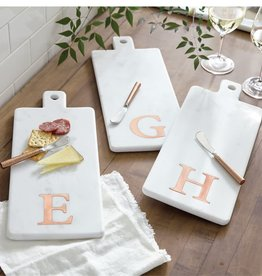 Mud Pie Initial Copper & Marble Board Set