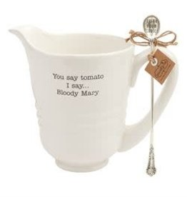 Mud Pie BLOODY MARY PITCHER SET