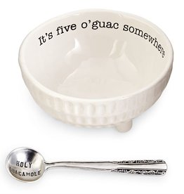 Mud Pie Guacamole Dip Bowl Set