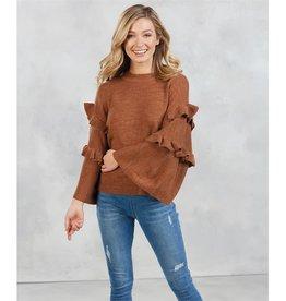 Mud Pie Ramsey Ruffle Sweater
